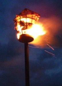 Dallington beacon burning