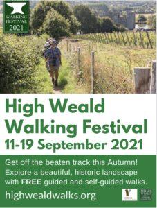 Poster advertising High Weald Walking Festival